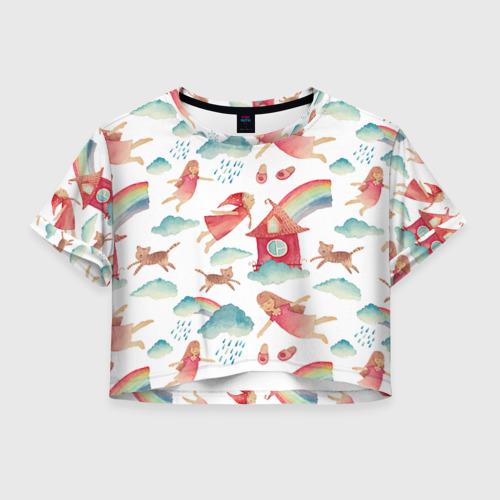 Женская футболка Crop-top 3D Фэшн 7