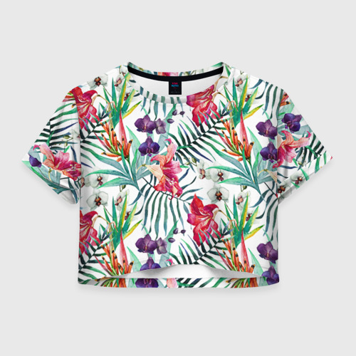 Женская футболка Crop-top 3D Фэшн 8