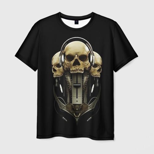 Мужская футболка 3D DJ череп