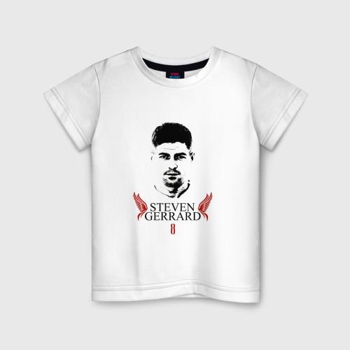 Детская футболка хлопок Стивен Джеррард | Ливерпуль