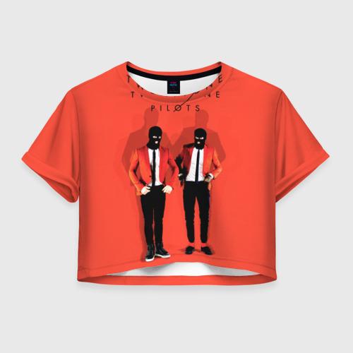 Женская футболка Crop-top 3D TwentyONE PILOTS
