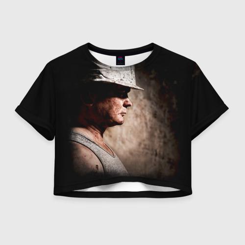 Женская футболка Crop-top 3D Шахтёр