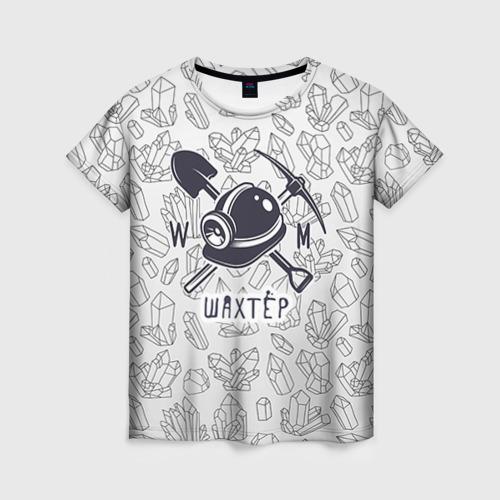 Женская футболка 3D Шахтёр