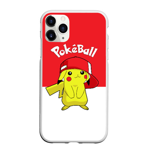 Чехол для iPhone 11 Pro Max матовый Pokeball