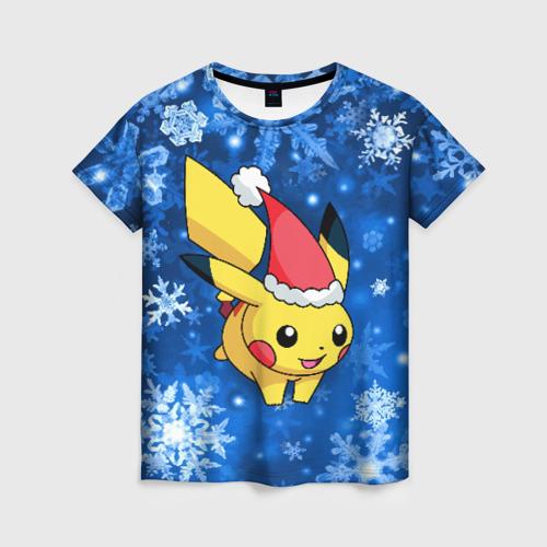Женская футболка 3D Pikachu