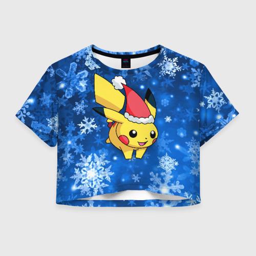 Женская футболка Crop-top 3D Pikachu