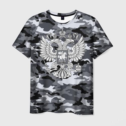 Мужская футболка 3D Городской камуфляж Россия