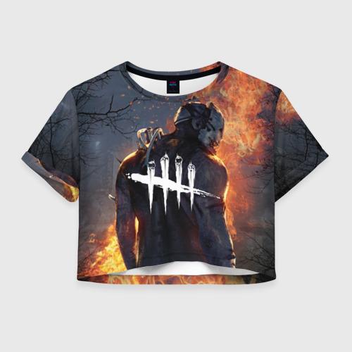 Женская футболка Crop-top 3D dead by daylight