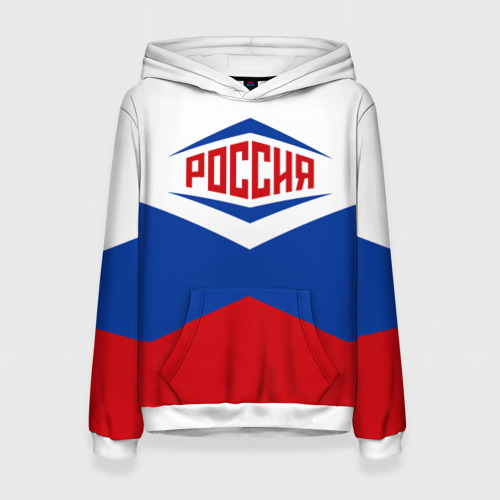 Женская толстовка 3D Россия 2016