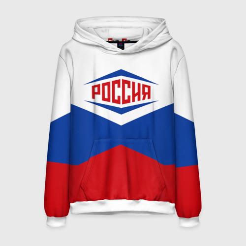 Мужская толстовка 3D Россия 2016