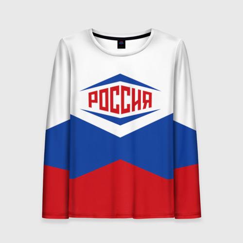 Женский лонгслив 3D Россия 2016