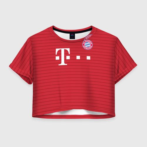 Женская футболка Crop-top 3D Бавария (форма)