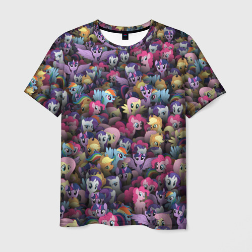 Мужская футболка 3D My Little Pony. Персонажи