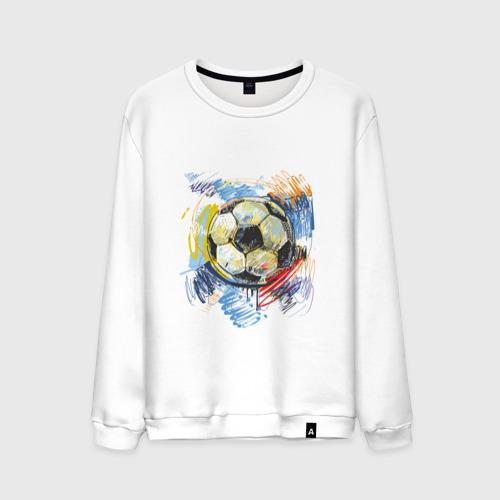 Мужской свитшот хлопок Рисованный футбольный мяч