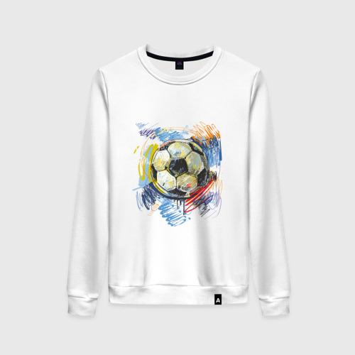 Женский свитшот хлопок Рисованный футбольный мяч
