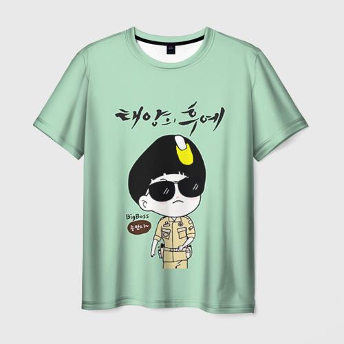 Мужская футболка 3D SONG JOONG KI