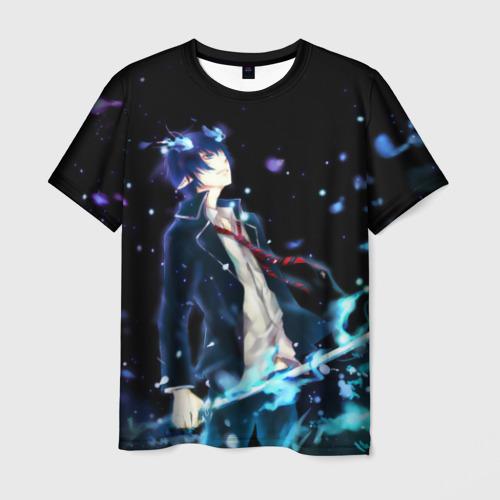 Мужская футболка 3D Blue Exorcist profil
