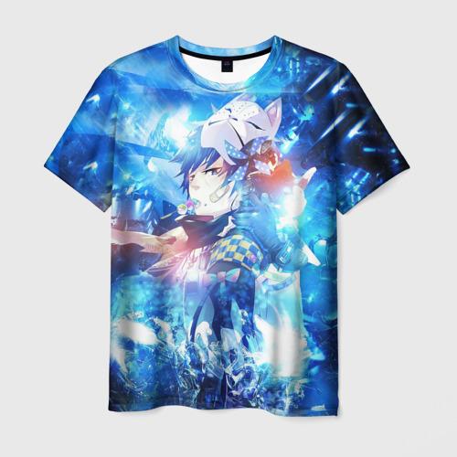Мужская футболка 3D Blue Exorcist blue art