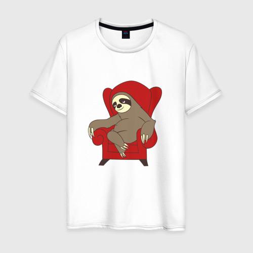 Мужская футболка хлопок Ленивец