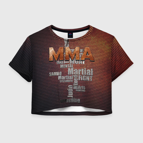 Женская футболка Crop-top 3D MMA