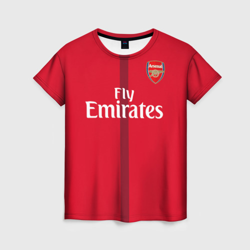 Женская футболка 3D Арсенал (форма)