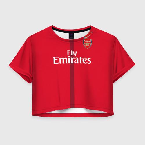 Женская футболка Crop-top 3D Арсенал (форма)