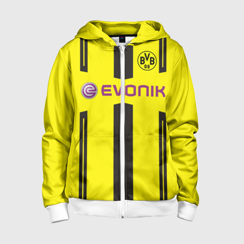 Детская толстовка 3D на молнии Borussia Dortmund