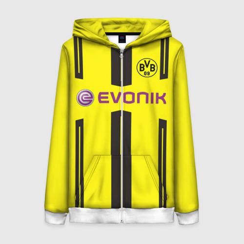 Женская толстовка 3D на молнии Borussia Dortmund