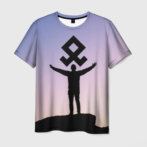 Мужская футболка 3D Знак Рода