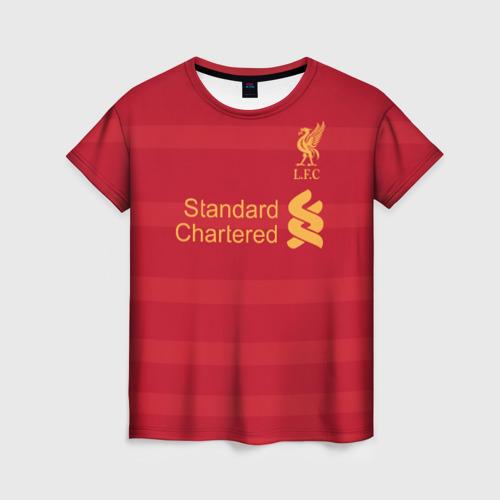 Женская футболка 3D Ливерпуль (форма)