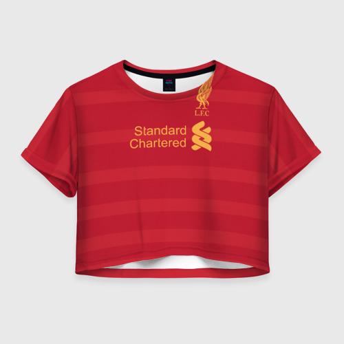 Женская футболка Crop-top 3D Ливерпуль (форма)