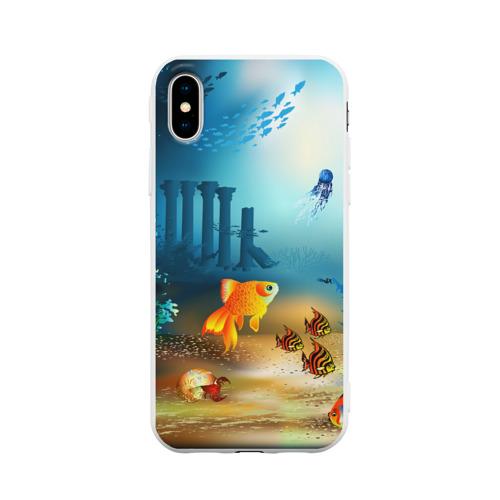 Чехол для iPhone X матовый Золотая рыбка