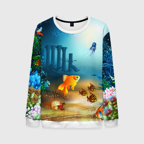 Мужской свитшот 3D Золотая рыбка