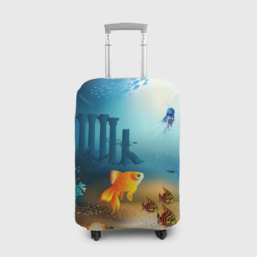 Чехол для чемодана 3D Золотая рыбка
