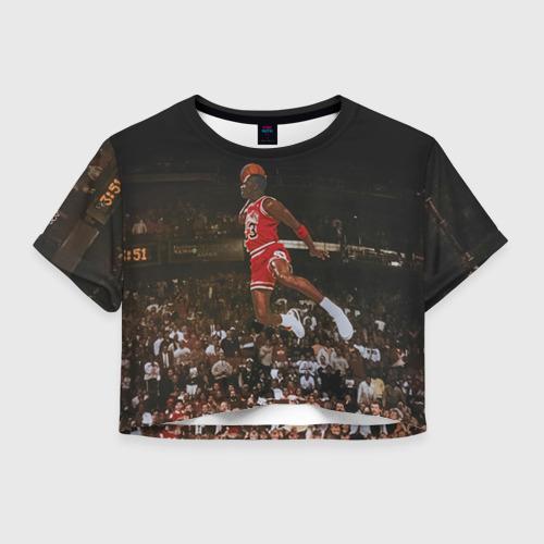 Женская футболка Crop-top 3D Michael Jordan