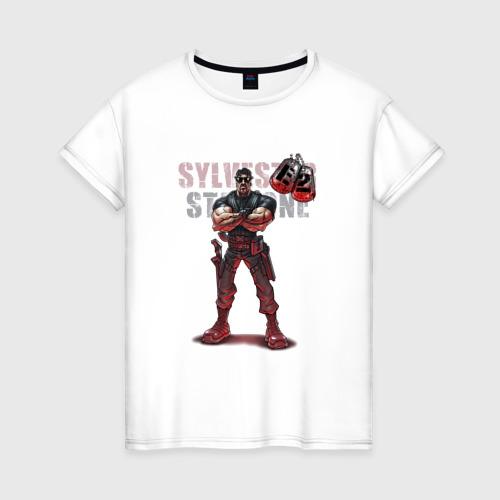 Женская футболка хлопок Сильвестр Сталлоне