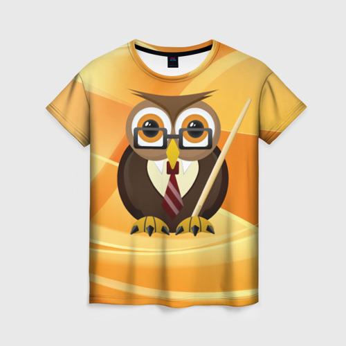 Женская футболка 3D Преподаватель
