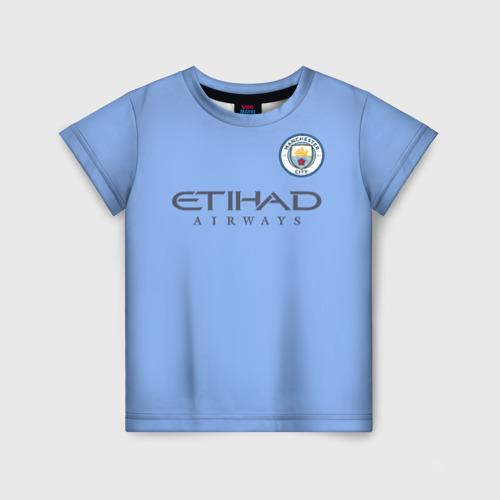 Детская футболка 3D Манчестер сити форма