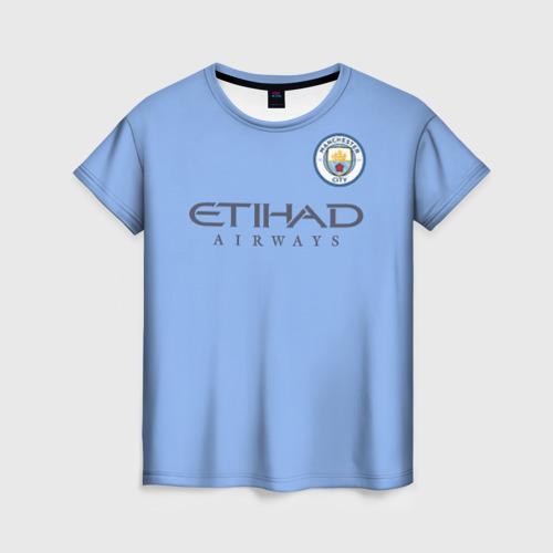 Женская футболка 3D Манчестер сити форма