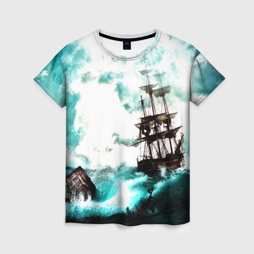 Женская футболка 3D Ship