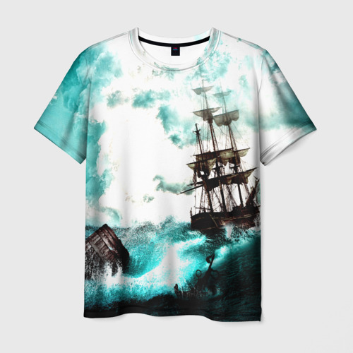 Мужская футболка 3D Ship