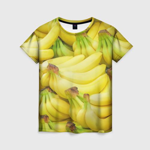 Женская футболка 3D бананы
