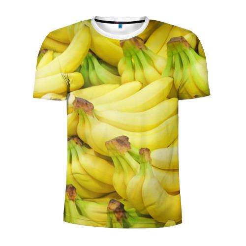 Мужская футболка 3D спортивная бананы