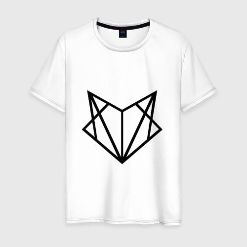 Мужская футболка хлопок Лиса геометрия