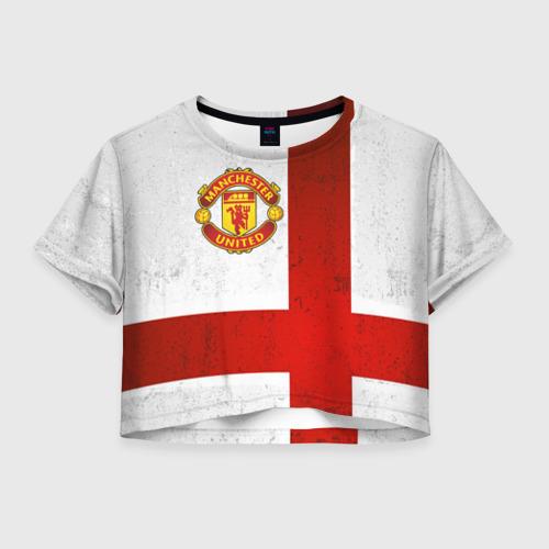 Женская футболка Crop-top 3D Manchester United FC