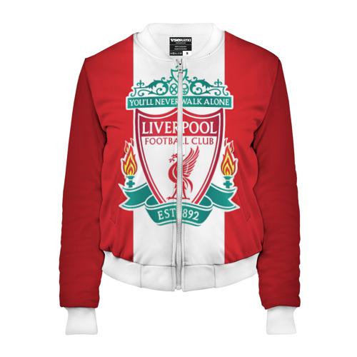 Женский бомбер 3D Liverpool FC