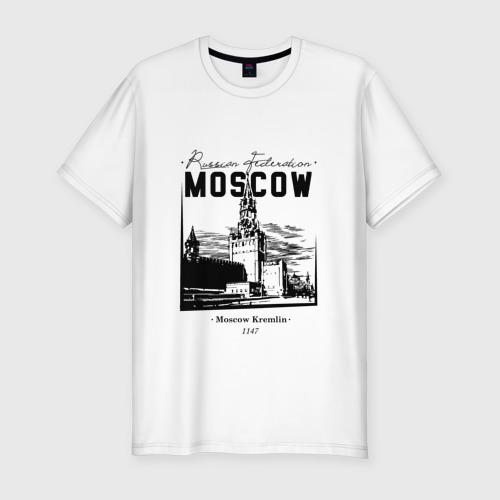 Мужская футболка хлопок Slim Москва, Кремль