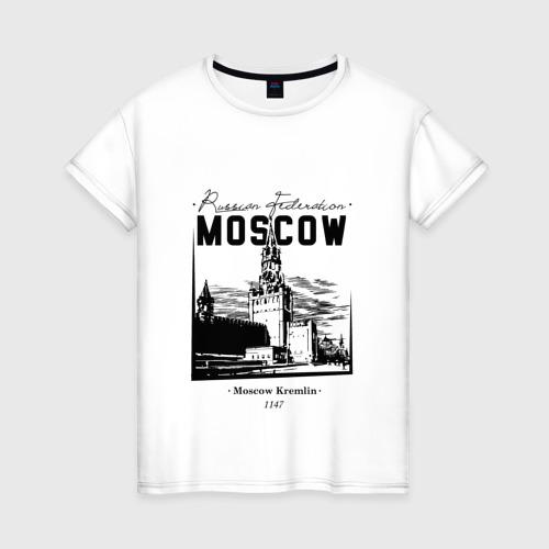Женская футболка хлопок Москва, Кремль