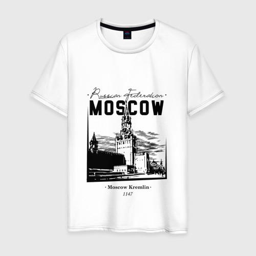 Мужская футболка хлопок Москва, Кремль