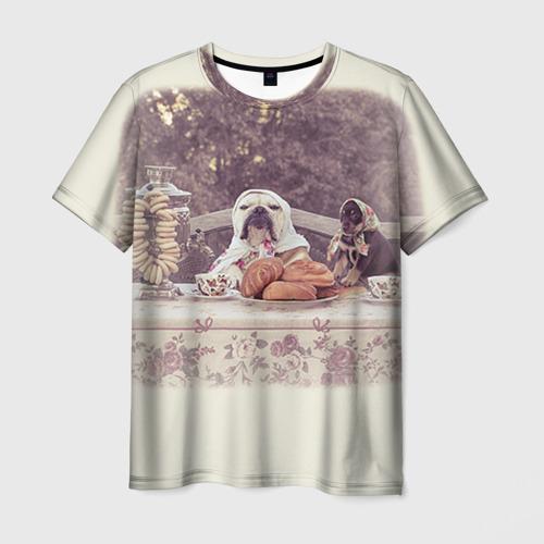 Мужская футболка 3D Bulldog 26